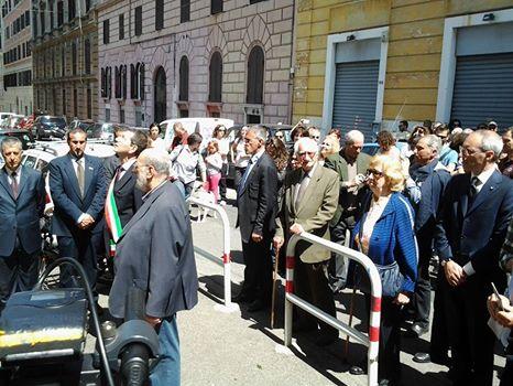 10 via Tasso con il sindaco Marino