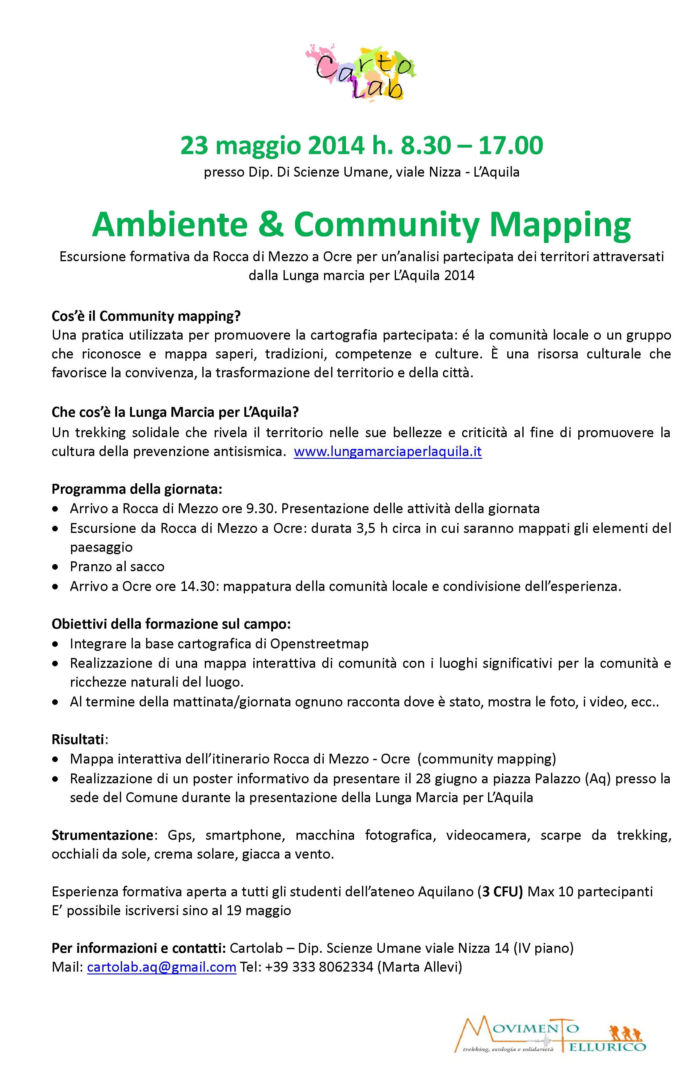 Ambiente & community mapping - presentazione