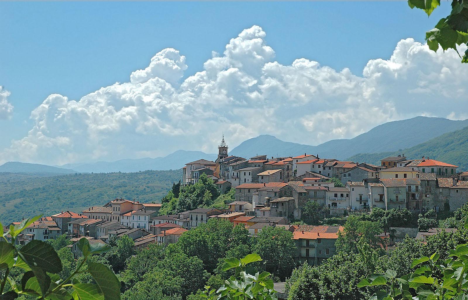 Sante Marie (AQ): veduta del borgo